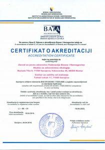 Certifikat o akreditaciji